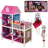 Будиночок 66901 2 поверхи, лялька шарнирна, меблі, кор., 98,5-38-14 см.