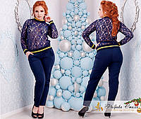 Женские брюки большого размера из крепа