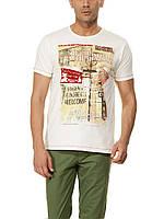Мужская футболка LC Waikiki белого цвета с надписью Art of street