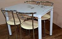 Стол стеклянный Дамар Белый 80x60 Damar Biały