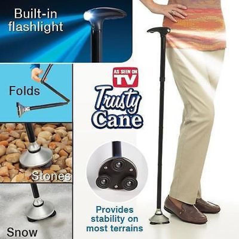 Трость с подсветкой,телескопическая трость Trusty Cane FK