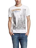 Мужская футболка LC Waikiki белого цвета с надписью California