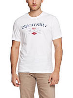 Мужская футболка LC Waikiki белого цвета с надписью Discovery
