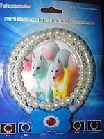 Светящийся ошейник для собак в виде жемчужин Pet's simulated pearl gleamy necklage FV