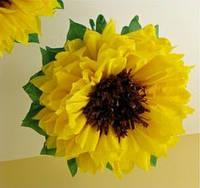 Большие бумажные цветы 50 см. разные цвета