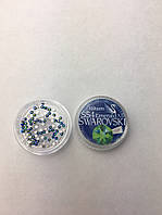 Стразы Swarovski SS4 Emerald AB, 100 штук