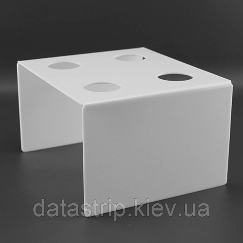 Подставка для вафельного рожка на 4шт. П-образная белая