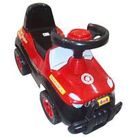 Каталка-толокар детская машинка Джипик Орион 105 чёрно-красная