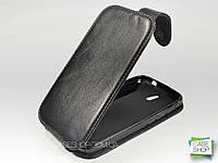 Откидной чехол из натуральной кожи для Huawei Ascend G610