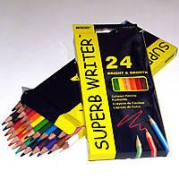 Карандаши цветные 24шт Superb Writer 4100-24СВ Marco