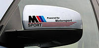 Наклейка на зеркала BMW Powered by Motorsport ///M - черная