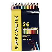 Карандаши цветные 36шт Superb Writer 4100-36СВ Marco