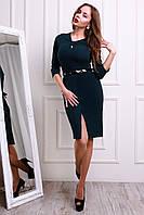 Модное платье с красивой горловиной в виде банта