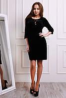Черное классическое бархатное платье