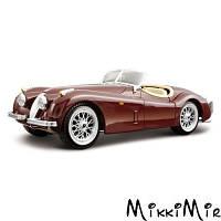 Модель - Jaguar XK 120 1951 (вишневый) 1:24, Bburago, Бордовый