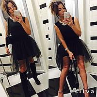Платье с фатиновой съемной юбкой 440 ник-ник