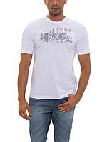 Мужская футболка LC Waikiki белого цвета с надписью New York