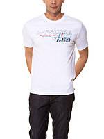 Мужская футболка LC Waikiki белого цвета с надписью OFF SHORE