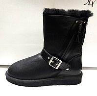 Угги женские Ugg Original кожаные черные Ug0024