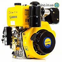 Дизельный мотор Sadko DE-440E (12 л.с., электростарт, шпонка)