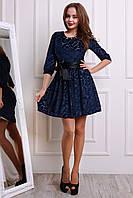 Модное платье с пышной в складочки юбкой