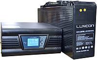 Комплект резервного питания ИБП Luxeon UPS-1000ZD + АКБ Luxeon LX12-125FMG для 10-16ч работы газового котла, фото 1