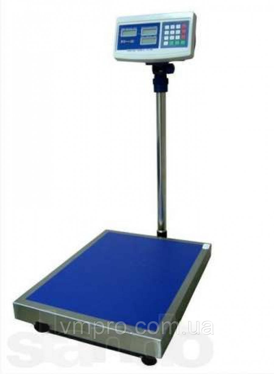 Весы торговые со стойкой 300 кг. платформа 40×60