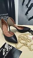 Туфли лодочки из натуральной кожи(комби)