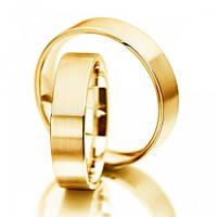 Золотые обручальные кольца Европейка 144437, 2.42, 15