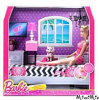 Роскошный интерьер - спальня, Barbie, Mattel, спальня, Розовый