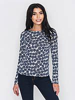 Красивый повседневный женский джемпер с цветочным принтом 90211/1