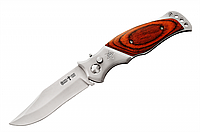 Нож выкидной,рукоять дерево (накладки)