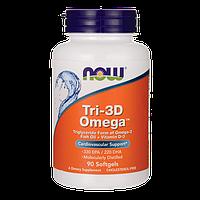 Омега-3 жирные кислоты + Витамин D, 90 капсул, Now Foods