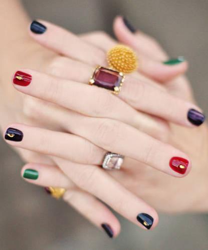 Фото ногтей, смоделированных гелем, с покрытием и дизайном из гель-лаков