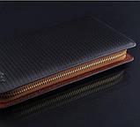 Мужской клатч кошелек рифленый, фото 4
