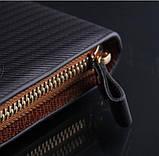Мужской клатч кошелек рифленый, фото 5