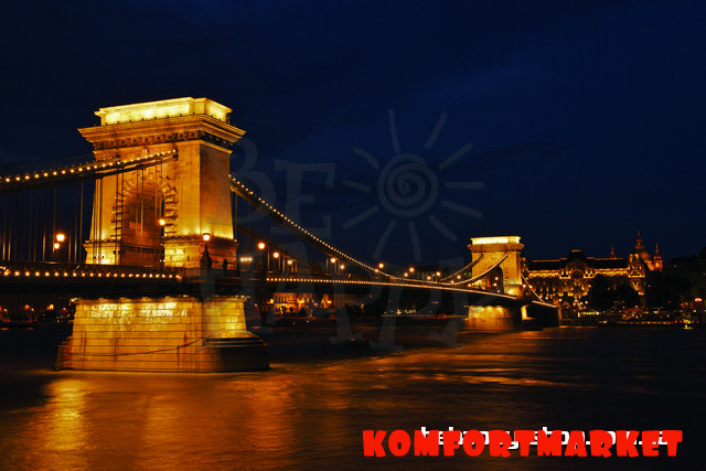 "Фотообои: ""Ночной Будапешт 3"""