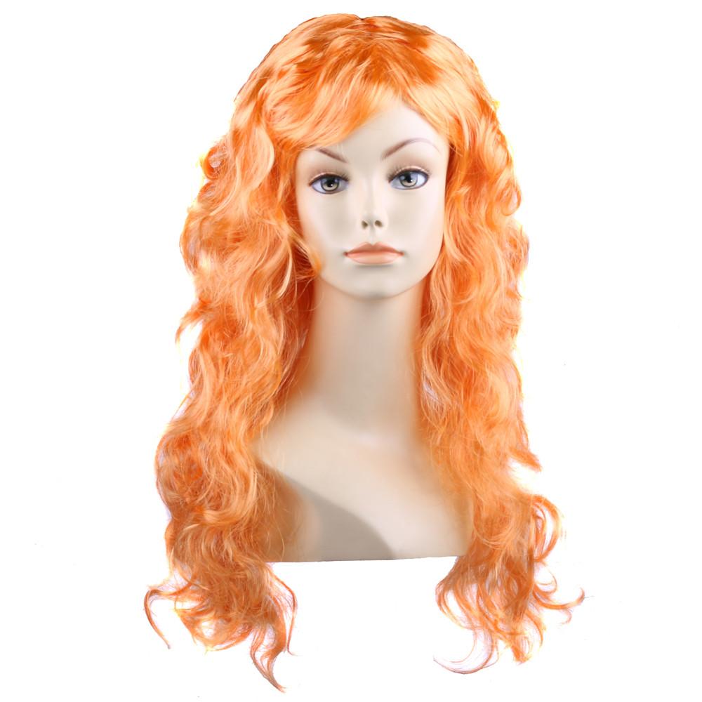 Парик карнавальный волнистый оранжевый