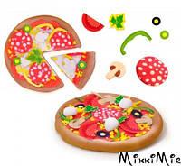 Пицца - незасыхающая масса для лепки (4 цвета, в баночках, инструменты), SES