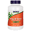 Кора Муравьиного дерева По Д'арко для иммунитета, Now Foods, Pau D' Arco, 500 mg, 250 капсул