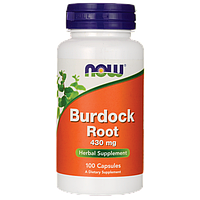 Корень лопуха, 430 мг, 100 капсул, Burdock Root, Now Foods