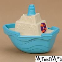Мини-кораблик (цвет морской), игрушка для игры с песком и водой, Battat, Голубой