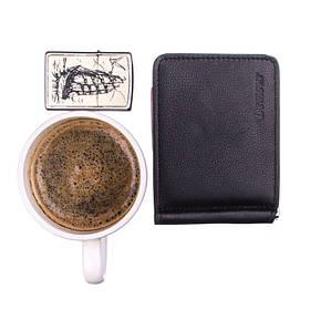 Зажим для купюр мужской кожаный Demour SW1169-1 черный