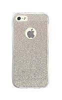 Силиконовый чехол с блесточками для iphone 7 (защита всего телефона)