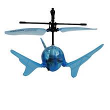 Радиоуправляемая модель «Auldey» (YW859110-6) летающий шар Aero Spin на ИК управлении (синий, подсветка)