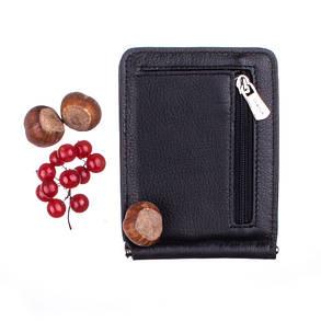Зажим для купюр мужской кожаный Demour SW1169-3 черный, фото 2