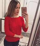 Красный женский джемпер 122