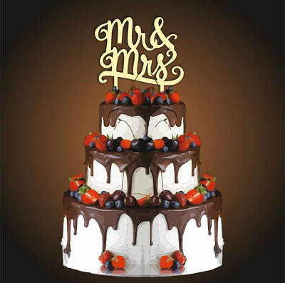 Топпер свадебный Mr Mrs