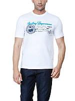 Мужская футболка LC Waikiki белого цвета с надписью Sailing department
