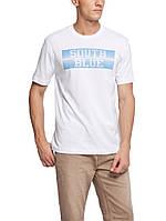 Мужская футболка LC Waikiki белого цвета с надписью South blue